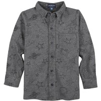 Grey Galaxy Knit Buttondown
