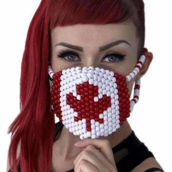 Canadian Flag Kandi Mask