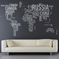 a different world wall sticker by sunny side up   notonthehighstreet.com