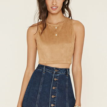 Faux Suede Crop Top | Forever 21 - 2000170632