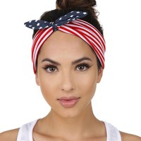 Red White And You Stretch Headband