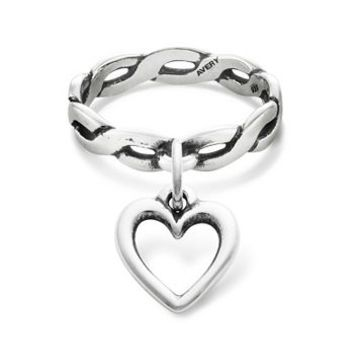Twisted Wire Dangle Ring With Open Wire From James Avery