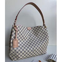 LV Louis Vuitton DAMIER CANVAS GRACEFULL MM HANDBAG TOTE BAG