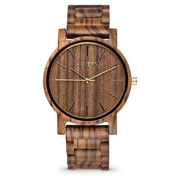 The Lenny Zebrawood | Set of 10 Groomsmen Wood Watches