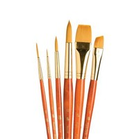 Save On Discount Princeton Art & Brush RealValue 6 pc Synthetic Acrylic Brush Set - Large Sizes & More Watercolor & Gouache Brush Sets at Utrecht