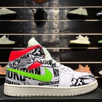 Air Jordan 1 Mid White Multi Color - Best Deal Online
