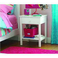 Walmart: your zone zzz place to be nightstand, white