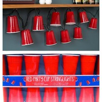 Mini Red Solo Party Cup String Lights