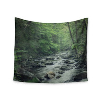 "Suzanne Harford ""Misty Forest Stream"" Nature Photography Wall Tapestry"