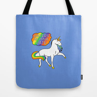 Haters Gonna Hate {Blue} Tote Bag by losinghimwasblue
