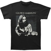 George Harrison Men's  George Harrison Live Portrait T-shirt Black