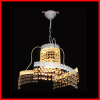 New Glass Unique Crystal Hanging Ceiling Chandelier Light White Pendant Lamp