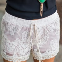 Rock and Lacey Shorts, Ivory