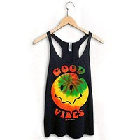 HAPPY FACE GOOD VIBES RACERBACK