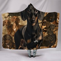 DACHSHUND - HOODED BLANKET