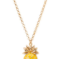 Pineapple Pendant Necklace   FOREVER21 - 1000107702
