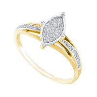 Diamond Fashion Bridal Ring in 10k Gold 0.1 ctw