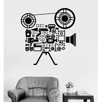 Vinyl Wall Decal Film Cinema Movie Camera Filming Art Room Stickers Unique Gift (ig3151)
