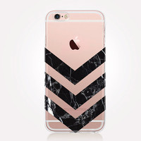 Transparent Black Marble iPhone Case - Transparent Case - Clear Case - Transparent iPhone 6 - Transparent iPhone 5 - Transparent iPhone 4
