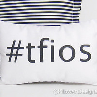 The Fault in Our Stars Mini Pillow Hashtag TFIOS Black and White Handmade in Canada