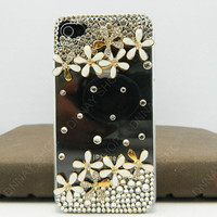 iPhone 5 case iPhone cover  Pearls flowers loves Fashion case iphone case  cell phone cases