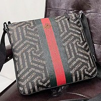 GUCCI  New fashion bee stripe more letter print leather couple shoulder bag crossbody bag briefcase bag