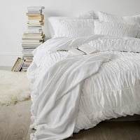 Ruched Duvet Cover + Sham