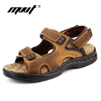 Men's Sandals - Genuine Leather Cowhide Shoes
