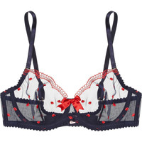 Agent Provocateur | Winnie underwired polka-dot tulle bra | NET-A-PORTER.COM