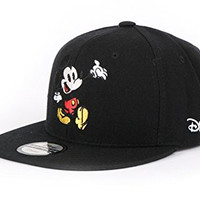 Disney Authentic Mickey Mouse Cute Snapback Hat (1. Black)