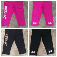 #Beast - Crop Pants - Workout Pants - Fitness Pants - Womens Fitness - Ruffles with Love