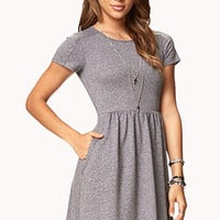 Heathered Fit & Flare Dress