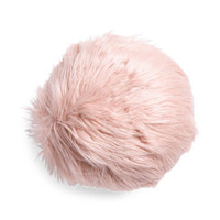 14in Round Solid Faux Fur Pillow - Throw Pillows - T.J.Maxx