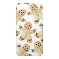 Gingerbread Man Cookie - Watercolor Christmas iPhone 7 Case