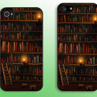 Bookshelf -- iPhone Case iPhone Cover for iPhone 5, iPhone 5S, iPhone 5C, iPhone 4, iPhone 4S