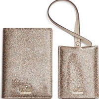 kate spade new york leather passport case & luggage tag set | Nordstrom