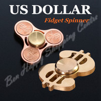 US Dollar/Coins Metal Finger Stress Spinner High Quality Bearing Spinner For Autism ADHD