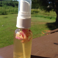 Yarrow Rose face toner: flowers infused in witch hazel and rose water soften and clean your face