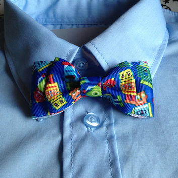 Royal blue Robot Baby bowtie, boys bowties, or men's bowtiie Photo Prop, or Photography Session.