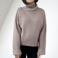 Women's Autumn Batwing Sleeve Turtleneck Sweaters And Pullovers = 1946266116