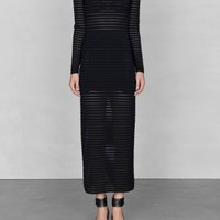 & Other Stories | Long knitted dress | Black
