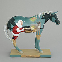 Jim Shore Collection Trail of Painted Ponies In A Manger Figurine