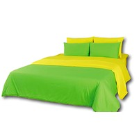 Tache Cotton Reversible Yellow Green Lemon Lime Comforter Set With Zipper
