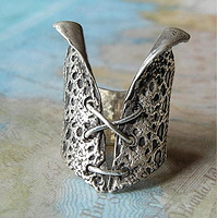 Sterling Silver Bustier Ring
