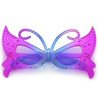Novelty Costume Party Gradient Colored Fairy Butterfly Glasses 42mm