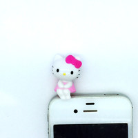 Hello Kitty Pink Earphone Jack Mascot