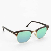 Ray-Ban Mirrored Clubmaster Sunglasses- Brown One