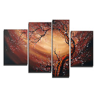 Captured Beauty In the Wind Canvas Wall Art Oil Painting