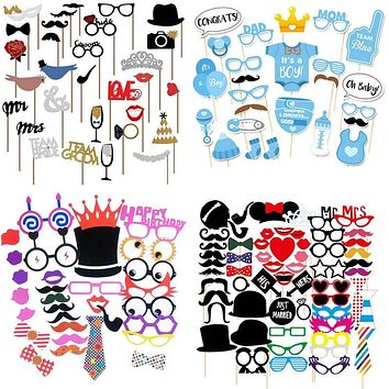 Fun Photo Booth Props for any Event Wedding Party Baby Shower Birthday