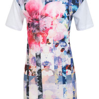 Floral Satin Front Tunic - Spring '14 - Apparel